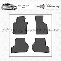 Комплект резиновых ковриков Stingray для автомобиля  Volkswagen Golf V 2003-2008    4шт.