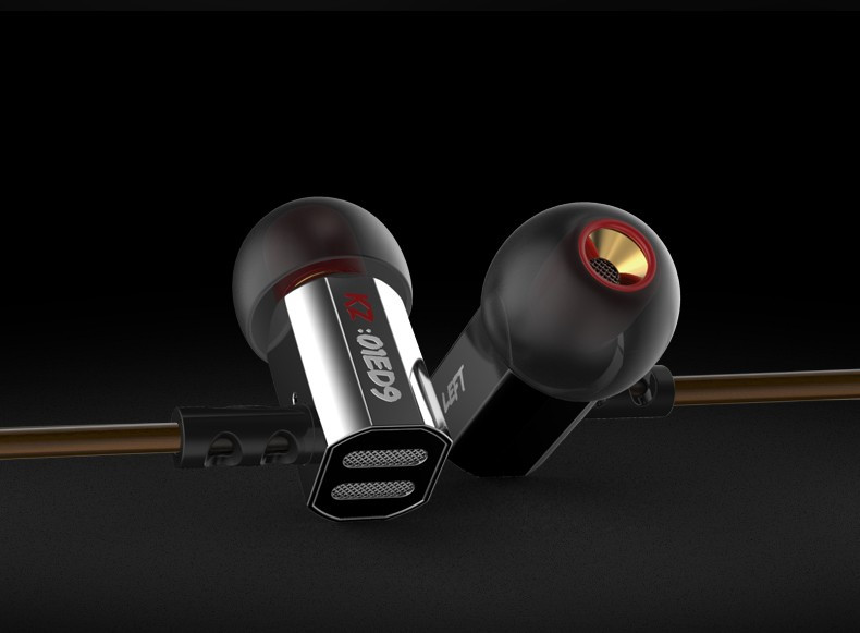 Проводные HiFi наушники с микрофоном KZ ED9 Super Bass (Knowledge Zenith) хром