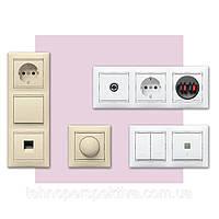 Электротехническая арматура, розетки, выключатели,распределительные коробки