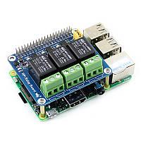 Реле плата розширення для Raspberry Pi (3 реле по 5А), фото 1