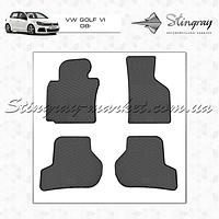 Комплект резиновых ковриков Stingray для автомобиля  Volkswagen Golf VI 2008-2013   4шт.