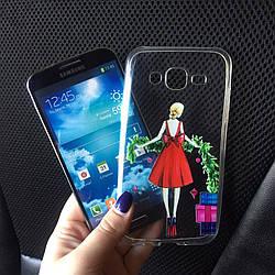 Силиконовые чехлы с девушкой для Samsung Galaxy А5 2015 (А500h)