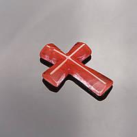 Кулон Крест каменный Халцедон 4,5х3см