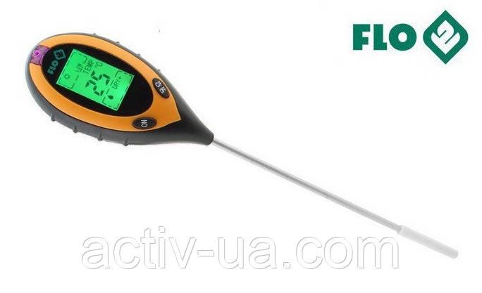 Анализатор почвы профессиональный 4 в 1 FLO 89000 (РН, влажность, освещённость, температура). Польша - Activ Life в Киеве