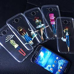 Чехлы силиконовые с девушками для Samsung Galaxy A3 2015 (A300h)