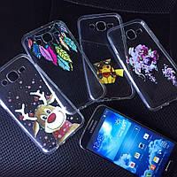Чехлы силиконовые с принтом для Samsung Galaxy A3 2015 (A300h)