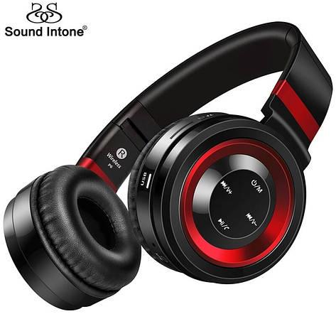 Бездротові навушники Sound Intone P6 Black-Red, фото 2