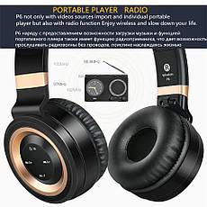 Бездротові навушники Sound Intone P6 Black-Red, фото 3