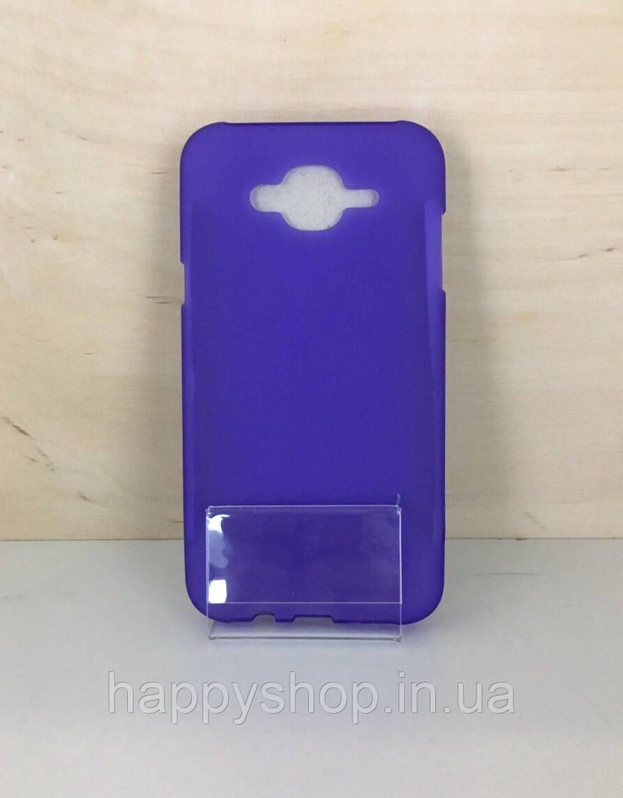 Силиконовый чехол-накладка для Samsung Galaxy J7 2015 (J700) Фиолетовый