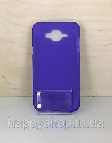 Силиконовый чехол-накладка для Samsung Galaxy J7 2015 (J700) Фиолетовый, фото 2
