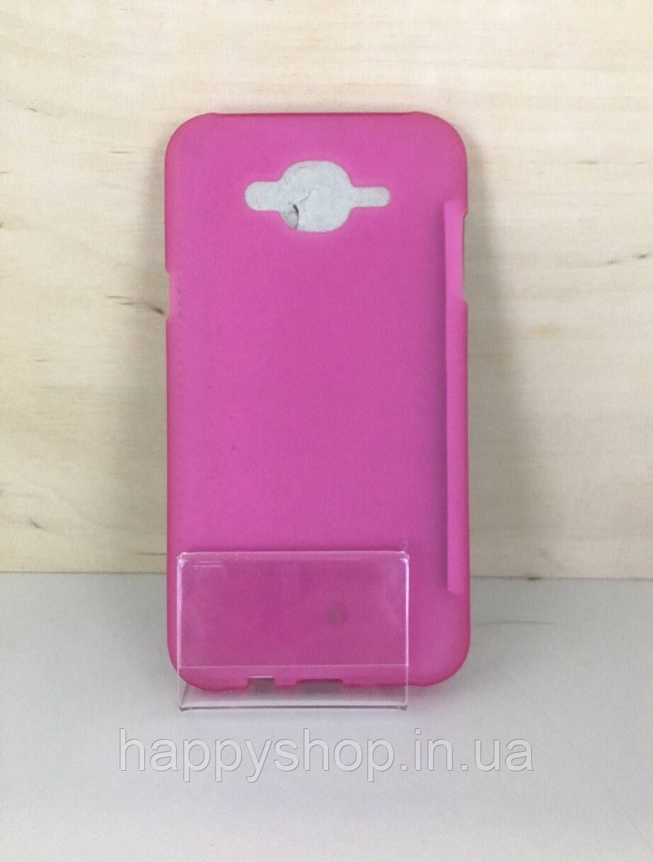 Силиконовый чехол-накладка для Samsung Galaxy  J7 2015 (J700) Розовый