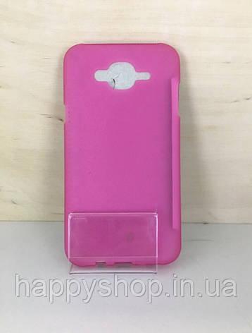 Силиконовый чехол-накладка для Samsung Galaxy  J7 2015 (J700) Розовый, фото 2