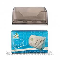 Подставка для визиток дымчатая