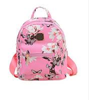 Рюкзак молодежный с цветочным принтом