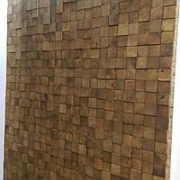 Декоративные стеновые панели из торцевых спилов ясень, дуб