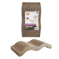 Когтеточка для котов из картона, волна, МЯУВИМБИ  Karlie-Flamingo (КАРЛИ-ФЛАМИНГО)