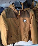 Стильная мужская демисезонная куртка беж со вставками Velvet