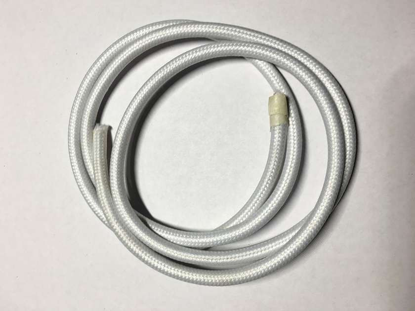 AMP провод текстильный 2x0.75 white