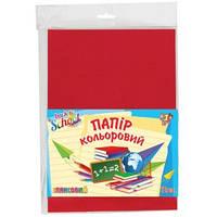 Набор цветной бумаги глянц. А4 (12 л./12 цв.), п/э, 950255 1 Вересня