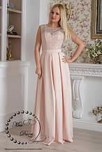Вечернее выпускное платье длинное пудровое