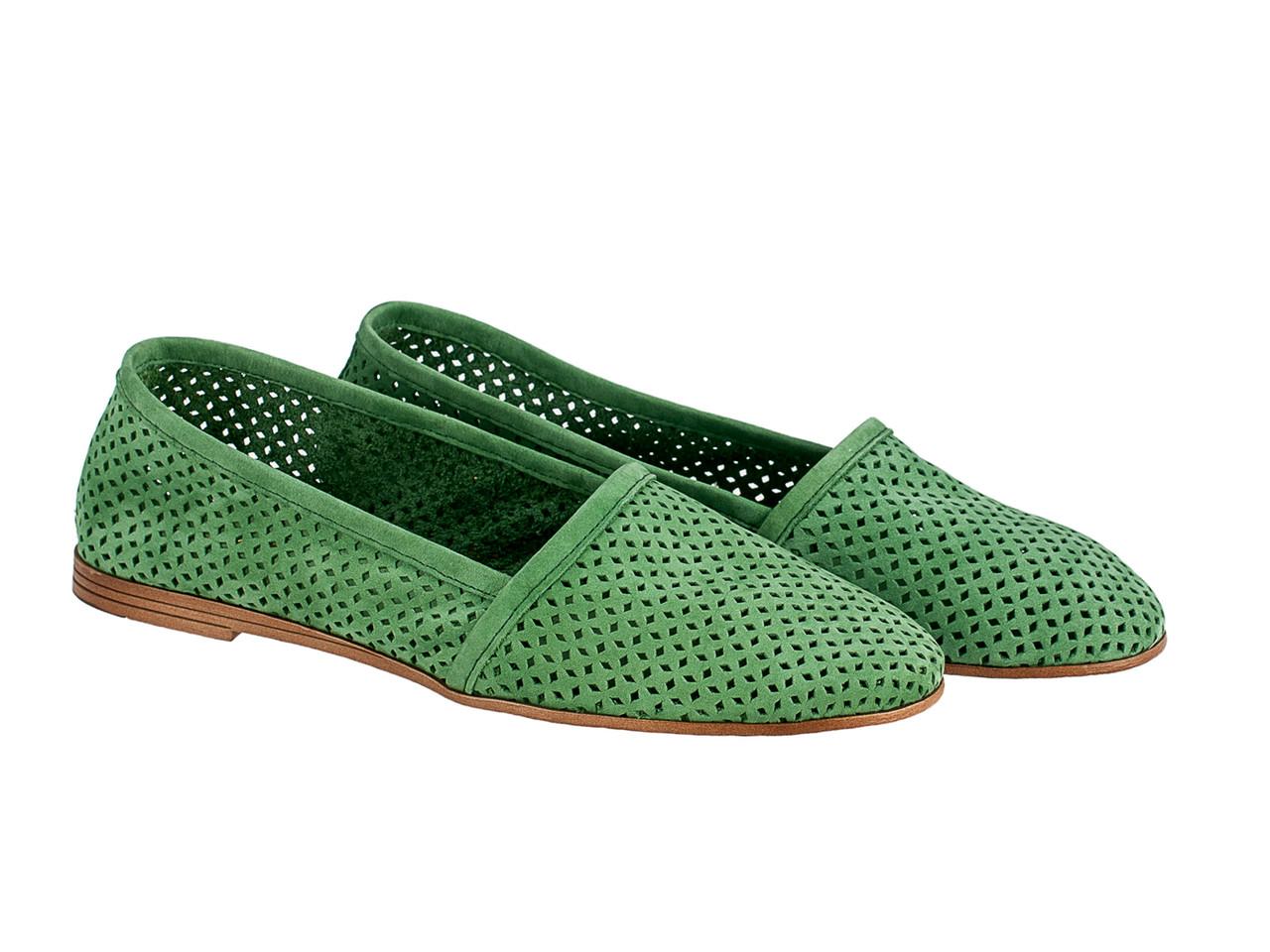 Балетки Etor 6076-7331-8862 зеленые