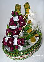 Торт из конфет Лещина с подковой. Подарок на серебряную свадьбу.