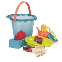 Набор для игры с песком и водой - МЕГА-ВЕДЕРЦЕ МОРЕ (9 предметов)
