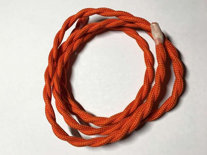 AMP провод текстильный витой orange