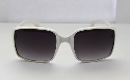 Квадратные солнцезащитные женские очки в белом цвете, фото 2