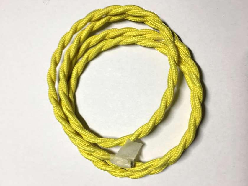AMP провод текстильный витой (yellow)