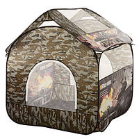 Детская палатка-домик 100-100-100 см, 4 окна, 1 вход на змейке, в сумке
