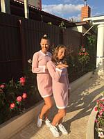 Платье Ева мама с дочкой в ассортименте венгерский трикотаж Lili Kids