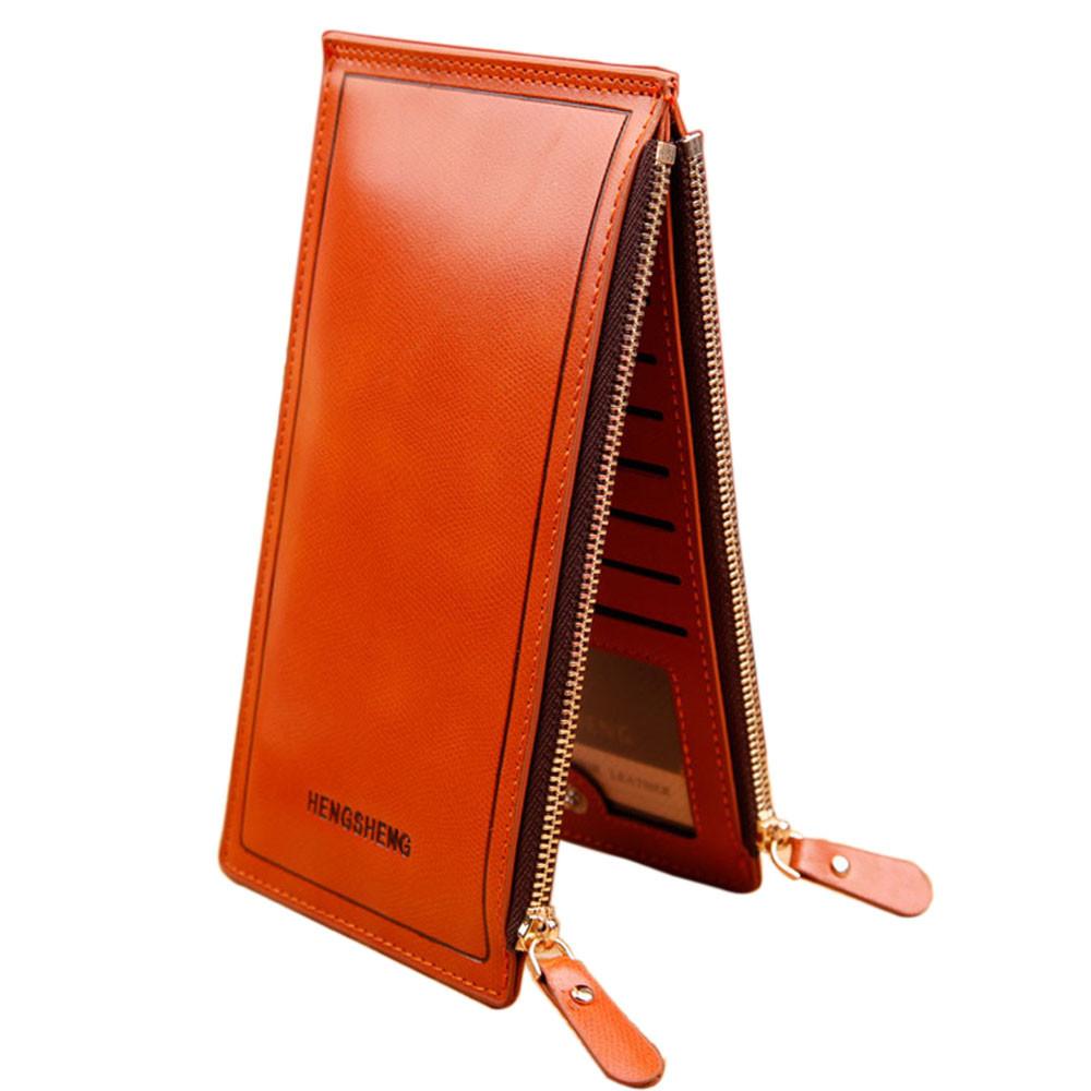Женский оранжевый кошелек на два отдела