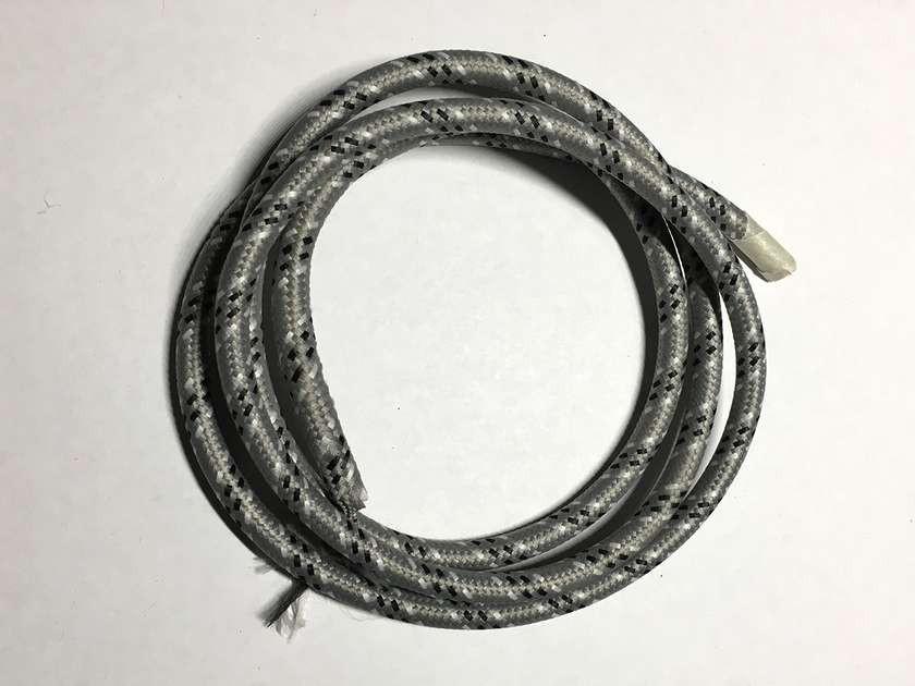 AMP провод текстильный зигзаг 2x0.75 (black+gray+white)
