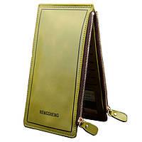 Женский кошелек и визитница зеленого цвета, фото 1