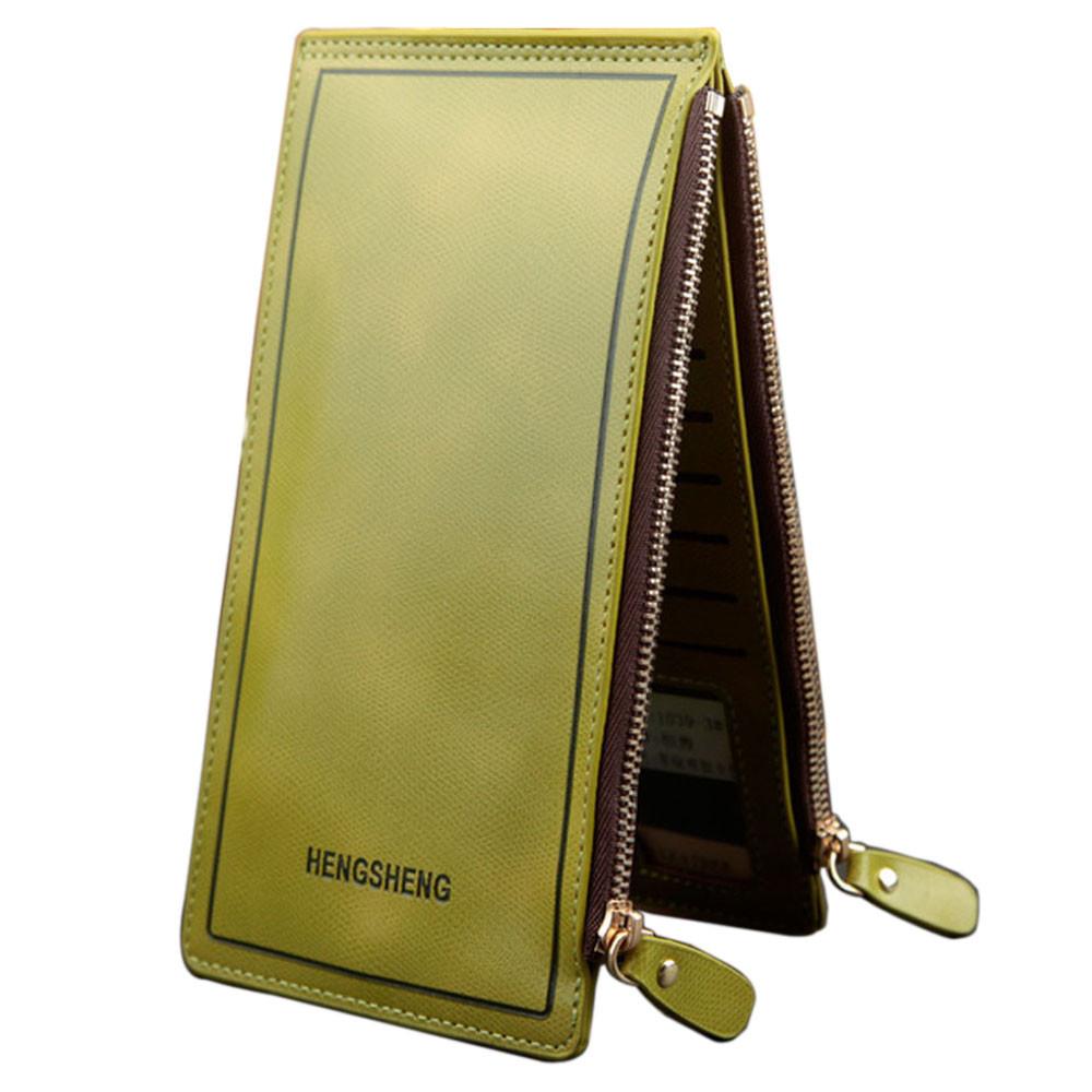Женский кошелек и визитница зеленого цвета