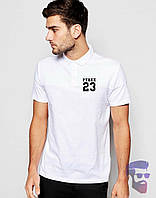 Футболка мужская поло с воротником белая Pyrex 23