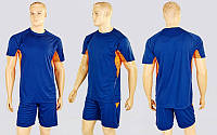 Футбольная форма Sole CO-1012-DB (PL, р-р M-XXL, т.синий-оранжевый, шорты т.синие)