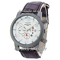 Breitling Silver-White-Brown