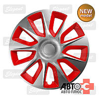 Колпаки Elegant Stratos Silver & Red R14