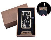 """Газовая USB-зажигалка """"Абстракция"""" №4818-1, зажигалка 2 в 1, пламя, кремниевый запал, спираль накаливания"""