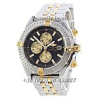 Breitling Chronomat Chronograph Silver-Gold-Silver-Black-Gold