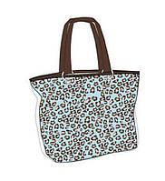 Яркая сумка пляжная из хлопка в прозрачном чехле с леопардовым принтом