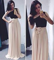 Платье вечерне в пол Масло С М Длина 165см