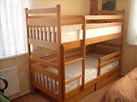 Двухярусная кровать из массива бук АРТУР+ бортик в подарок