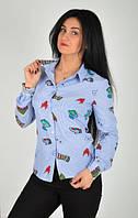Повседневная женская рубашка в полоску