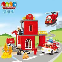 """Конструктор JDLT 5155 (аналог Lego Duplo) """"Пожарная станция"""", 63 детали"""