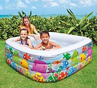 Детский надувной бассейн Intex 57471: размер 159х159х50см
