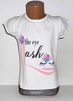 """Детская одежда оптом.Футболка """"The eyelash"""" для девочек 5,6,7,8 лет"""