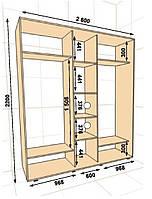 Шкаф-купе ШК-04 2600х600х2200, фото 1